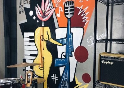 """""""Music Studio Mural"""""""